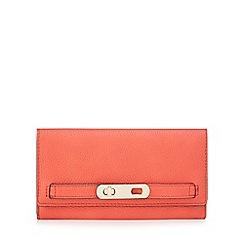 J by Jasper Conran - Red twist lock flapover wallet