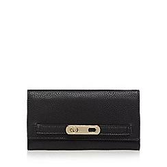J by Jasper Conran - Black twist and lock large purse