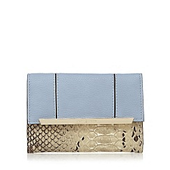 J by Jasper Conran - Light blue metal panelled flap over wallet