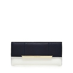 J by Jasper Conran - Navy and white panelled flap-over wallet