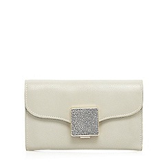 J by Jasper Conran - Grey leather flap over purse