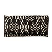 Black large coated canvas 'matinee' purse