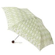 Cream 'ribbon' printed umbrella