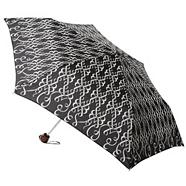 Black 'ribbon' printed umbrella