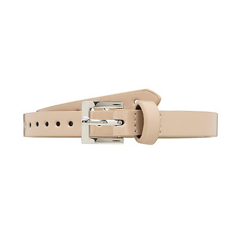 The Collection - Natural patent punch out belt
