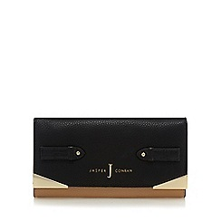 J by Jasper Conran - Black and beige metal corner purse
