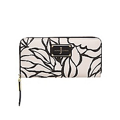 J by Jasper Conran - White printed zip around purse