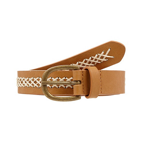 Mantaray - Tan owl buckled belt