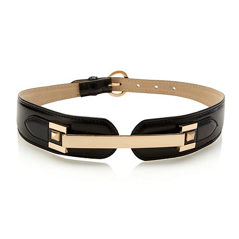 Red Herring - Black plated studded waist belt