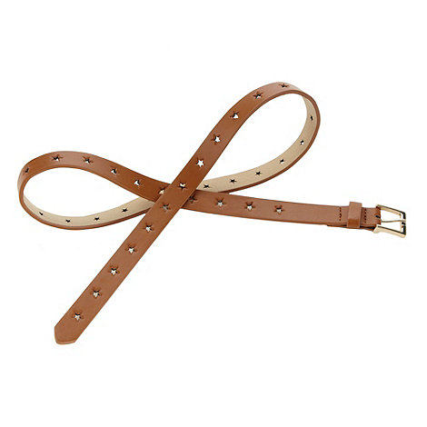 Red Herring - Tan cut out star belt