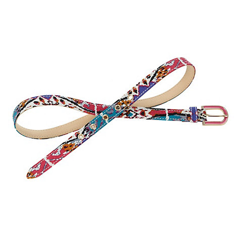 Red Herring - Pink abstract printed belt