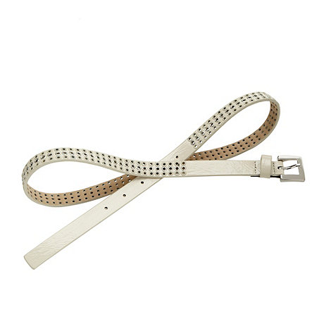 Red Herring - Cream punched belt
