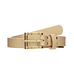 The Collection - Cream link detail trouser belt