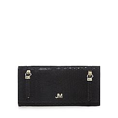 Star by Julien Macdonald - Black snakeskin-effect large foldover purse