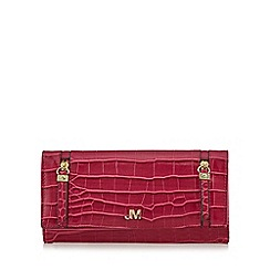 Star by Julien Macdonald - Pink mock croc large zip around purse