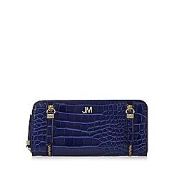 Star by Julien Macdonald - Blue mock croc large zip around purse