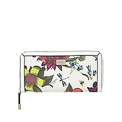 Star by Julien Macdonald - White floral print zip-around wallet