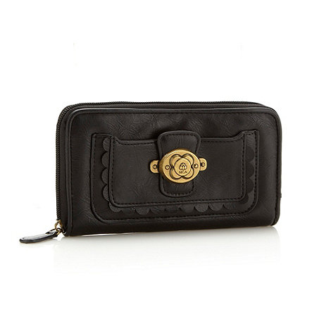 Nica - Black domed logo purse