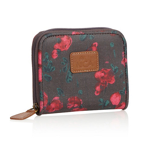 Nica - Dark grey small tulip canvas purse
