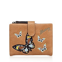 Mantaray - Tan butterfly appliqueé purse