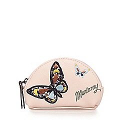 Mantaray - Light pink butterfly appliqueé coin purse