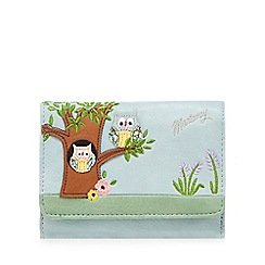 Mantaray - Light blue owl appliqueé wallet
