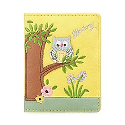 Mantaray - Yellow owl print travel card wallet