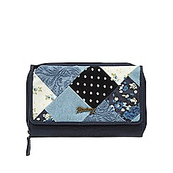 Mantaray - Navy patchwork flap over purse