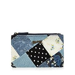 Mantaray - Navy patchwork coin purse