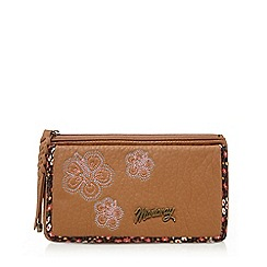 Mantaray - Tan floral embroidered purse