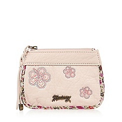 Mantaray - Light pink floral embroidered coin purse