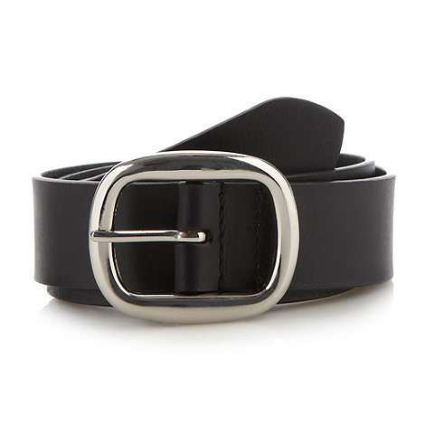 The Collection - Black leather belt