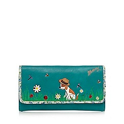 Mantaray - Green dog appliqu  flap over purse