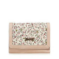 Mantaray - Light pink floral fold over purse