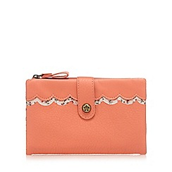 Mantaray - Orange scallop trim fold over purse
