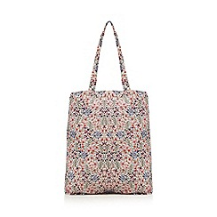 Mantaray - Multi-coloured floral print foldaway tote bag