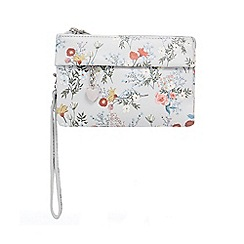 Red Herring - Multi-coloured floral print wristlet bag