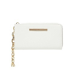 Red Herring - White three compartment wristlet bag