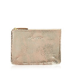 RJR.John Rocha - Rose gold leather coin purse