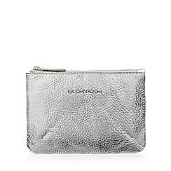 RJR.John Rocha - Silver leather coin purse