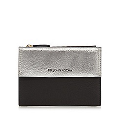 RJR.John Rocha - Black and silver flap over medium purse