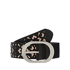 The Collection - Black laser cut trouser belt