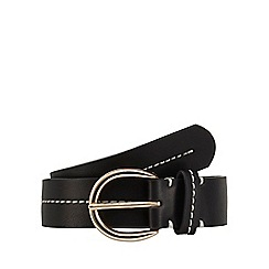 The Collection - Black contrast stitch belt