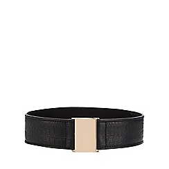 The Collection - Black croc-embossed belt
