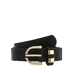 The Collection - Black buckled detail trouser belt