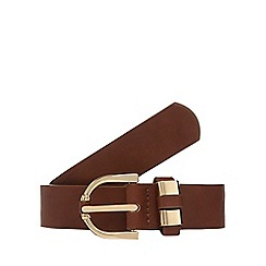 The Collection - Tan buckle detail trouser belt
