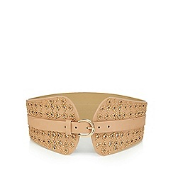 Red Herring - Camel studded wide waist belt