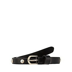 Red Herring - Black studded skinny belt