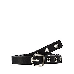 Red Herring - Black long eyelet belt