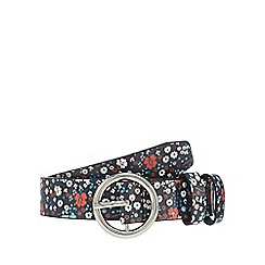 Red Herring - Multi-coloured floral print belt